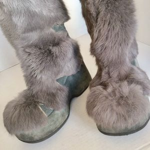 Shoes - REAL FUR PLATFORM BOOTS